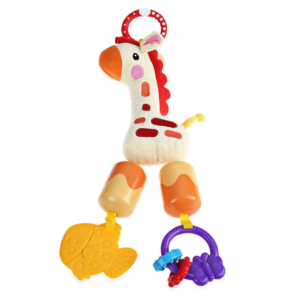 Baby bed accessories - Cute Giraffe Cotton Plush Toy Baby Bed Hang Knickknack With Bell Bed Accessories China