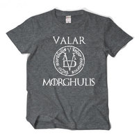 2017 New Summer T Shirt Men Ice And Fire Song Right Game All Mortals Have A