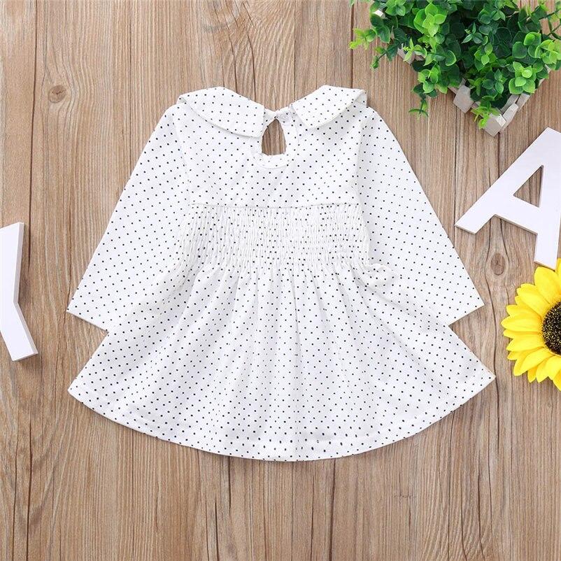 mini dot pattern baby girls dress fashionable long sleeve dress for toddler girls lovely princess conjunto menina 4OT1 (11)