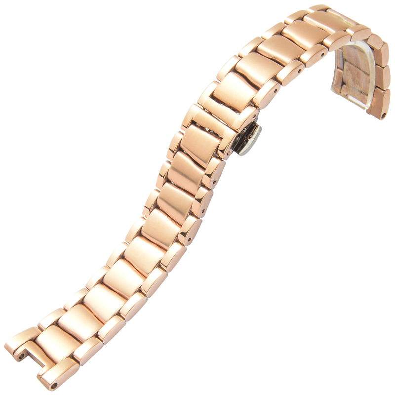 ФОТО Stainless Steel Watchbands For Omega De Ville LADYMATIC Series Metal Bracelet 18mm Width Watches Rings Belt Classic Wristband
