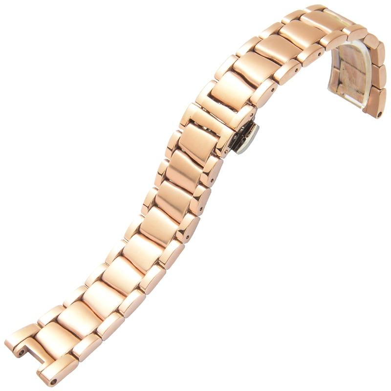где купить  Stainless Steel Watchbands For Omega De Ville LADYMATIC Series Metal Bracelet 18mm Width Watches Rings Belt Classic Wristband  по лучшей цене