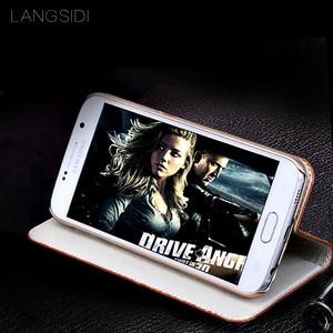 Image 3 - wangcangli genuine leather flip phone case Crocodile back texture For iphone 5 All handmade phone case
