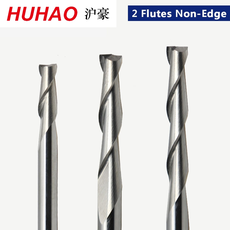 1pc 3.175mm SHK Wood Cutter CNC Router Bits 2 Flutes Spiral End Mills Double Flute Milling Cutter Spiral PVC Cutter(China)