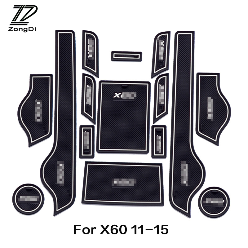 ZD 15pcs Car Cup Mat Door Gate Slot Pad Stickers For Lifan X60 Accessories 2011 2012 2013 2014 2015