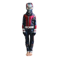 Kids Ant-Man Cosplay Costumes Avengerss Ant-Man Costumes For Boy Jumpsuits 2pcs/set Children's Halloween Party Dress Cosplay(China)