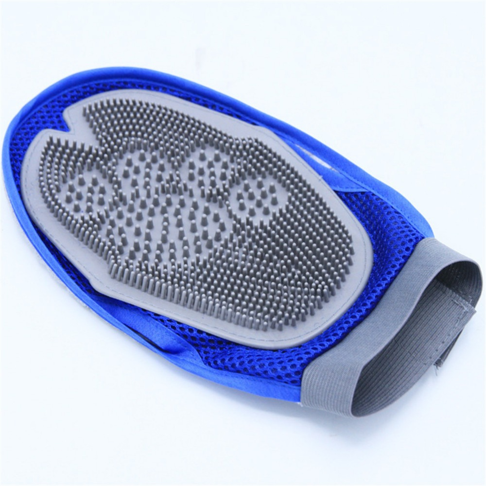 Soft Mitt Pet Grooming Glove Brush for Long & Short Hair Pets to Eliminate Shedding Useful for Combing and Cleaning of Pets