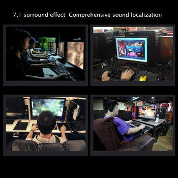 SADES A6 USB 7.1 Stereo wired gaming headphones game headset over ear with mic Voice control for laptop computer gamer 6