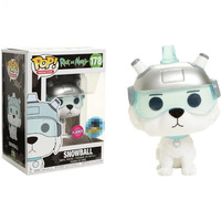 Exclusive Funko pop Flocked Official Rick & Morty Snowball Vinyl Action Figure Collectible Model Toy with Original Box