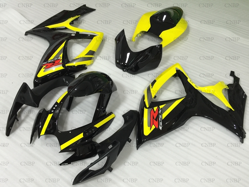 for Suzuki GSXR750 2006 Plastic <font><b>Fairings</b></font> <font><b>GSXR</b></font> <font><b>600</b></font> 750 2006 - <font><b>2007</b></font> K6 Black Yellow Full Body <font><b>Kits</b></font> GSX-R600 <font><b>2007</b></font> Plastic <font><b>Fairings</b></font> image