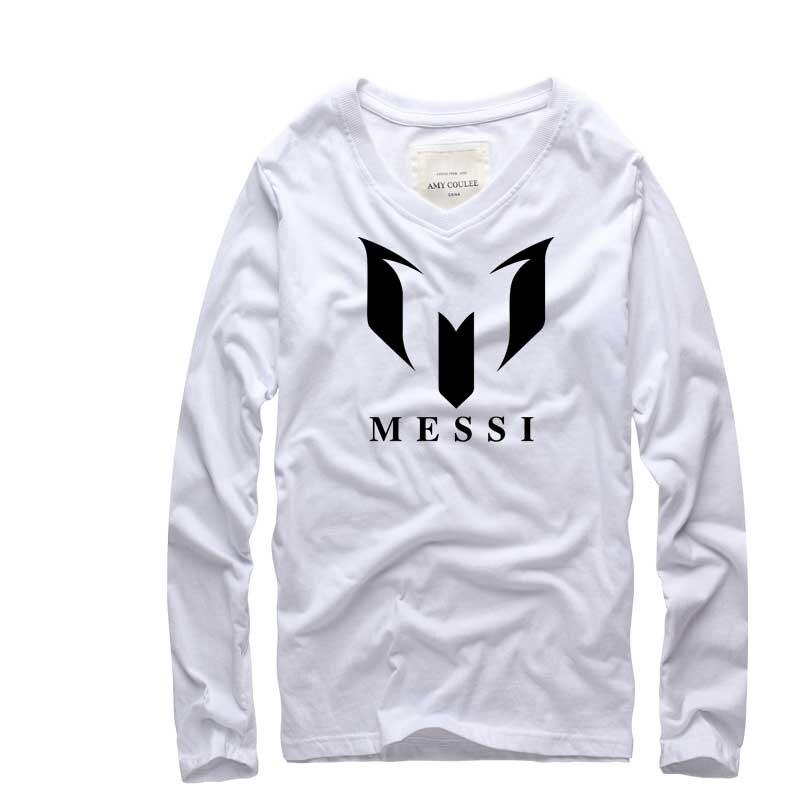 Marca de moda 100% Algodón Barcelona MESSI Impreso Hombres camiseta - Ropa de hombre - foto 3