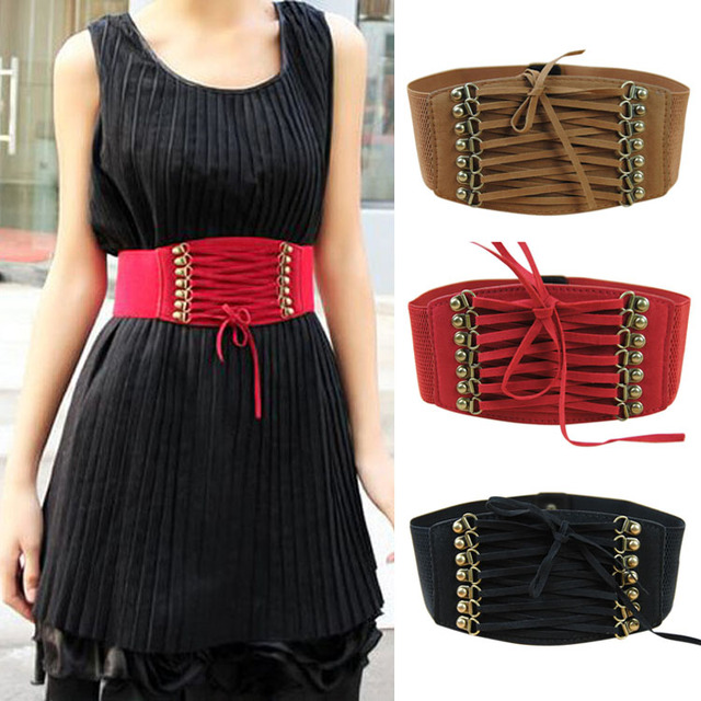 81d32544181 Hot Brand New Designer Women Ladies Strap Buckle Cinch Belts Corset Stretch Skinny  Waistband High Waist