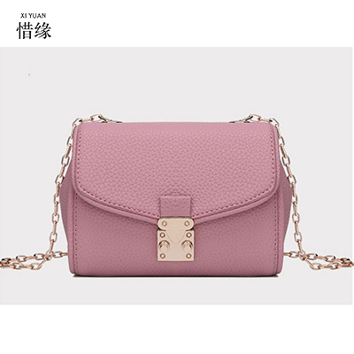 XIYUAN BRAND WOMEN spring and summer new European and American style leather handbag ladies Chain shoulder handbags big bag PINK женская рубашка european and american big 1715