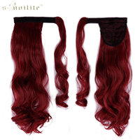 SNOILITE 24inch Curly Long Ponytail Clip In Pony Tail Hair Extensions Wrap On Hairpieces Hairstyles