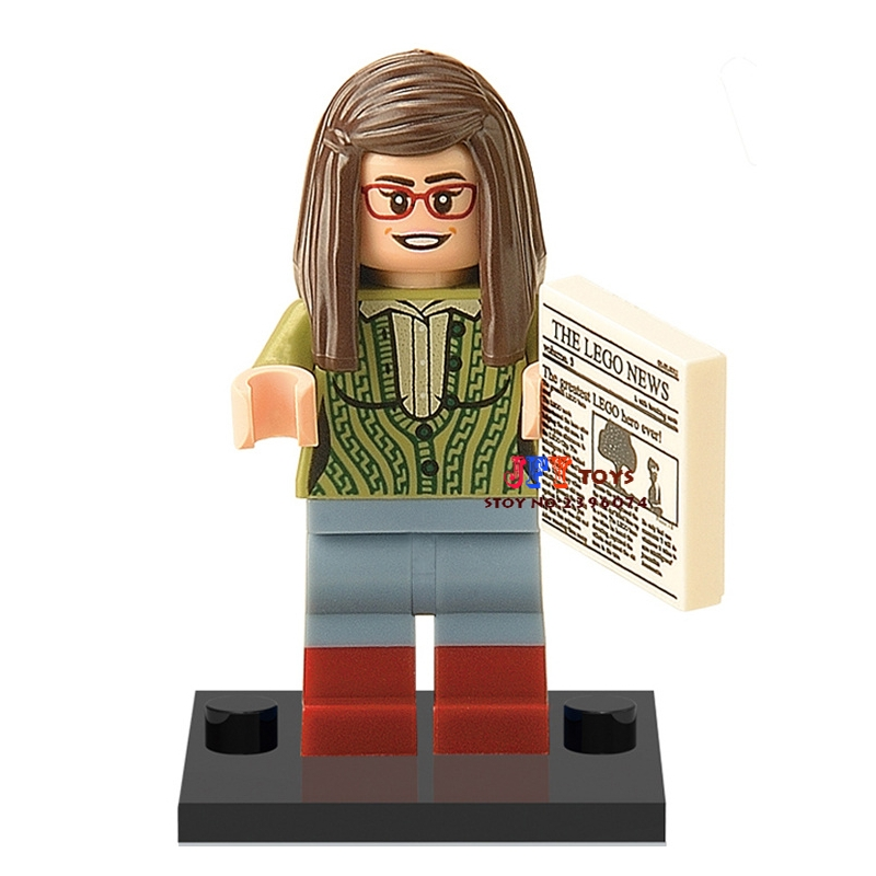 50pcs The Big Bang Theory TBBT Amy building blocks bricks friends for girl boy kids children toys brinquedos menina