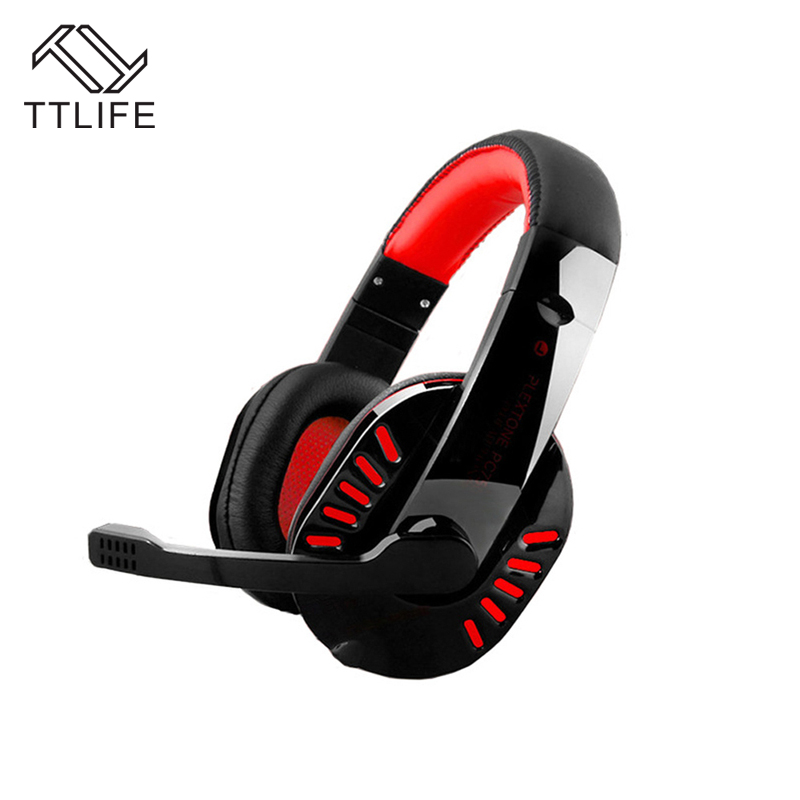 TTLIFE Wired Gaming Headphones PC750 Stereo Bass Noise Canceling 3.5mm PC Gamer Headset With Mic for Computer PS4 Internet Bar gaming headphone headphones headset deep bass stereo with mic adjustable 3 5mm wired led for computer laptop gamer earphone
