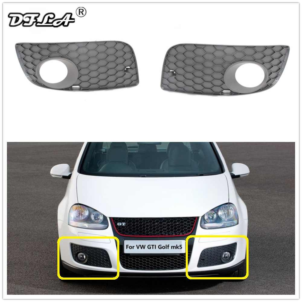 For VW Golf 5 MK5 GTI 2004 2005 2006 2007 2008 2009 Car-Styling Front Fog Lamp Light Grille Cover