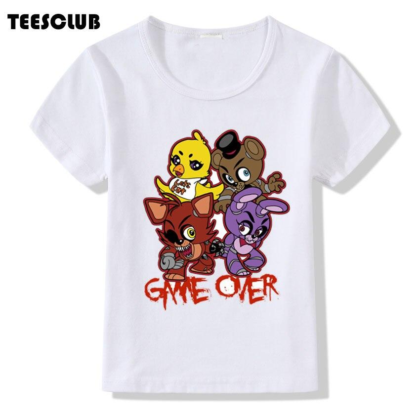 Five Nights At Freddy T shirt Children Cartoon Funny 5 Nights Printed Tshirt Boys Girls Summer Tops Short Sleeve Casual Tees