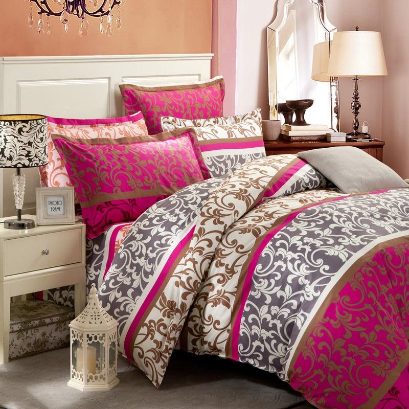 New Bedding Set 4Pcs Bedclothes Bed Linen Sets Twin/Queen/King Size Quilt/Duvet Cover Set Bed Sheets Cotton