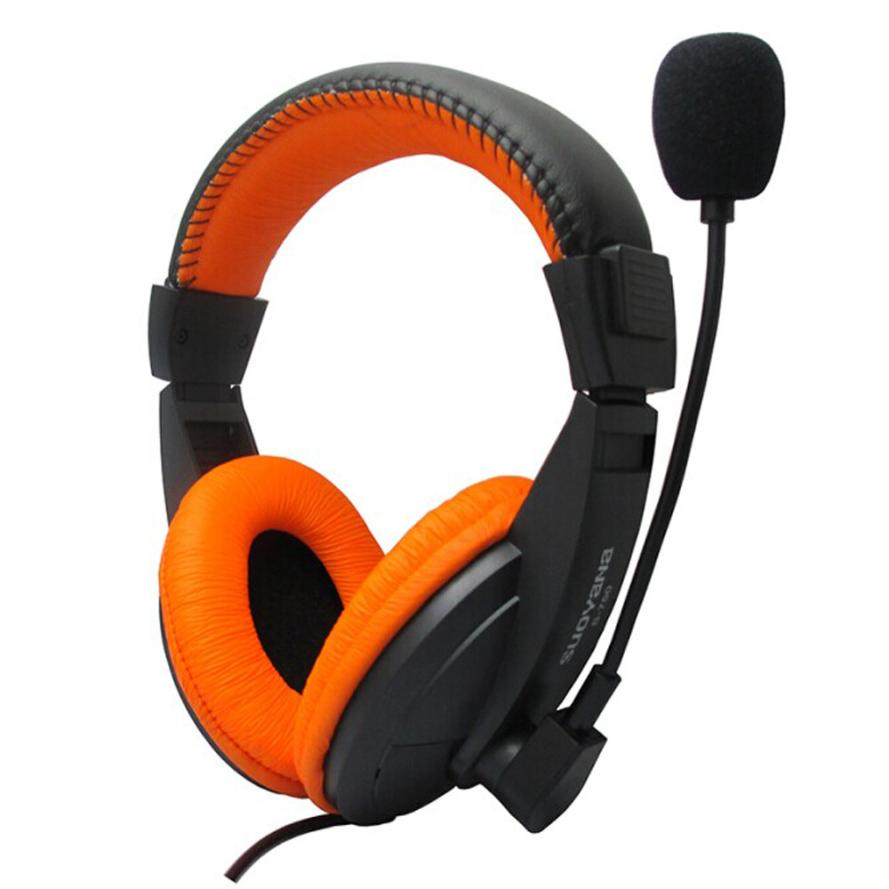 High Performance 3.5mm Stereo Headband Headphone Portable Gaming Headset Microphone For PC Notebook Nov22