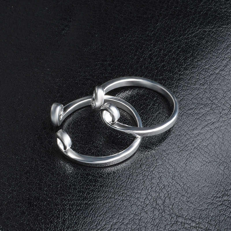 OMHXZJ ขายส่งบุคลิกภาพแฟชั่น OL ผู้หญิงสาวงานแต่งงานของขวัญคนรักเงินเปิด S925 แหวนเงินแท้ RN281