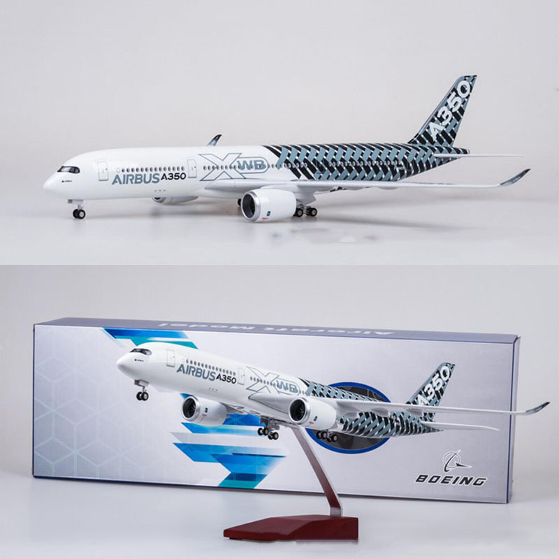 47CM 1/142 Scale Airplane Airbus A350 Prototype XWB Airline Model W Light And Wheel Diecast Plastic Resin Plane For Collection