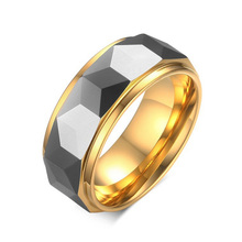 High Quality Fashion Silver And Golden Color Tungsten Ring Men Charming Wedding Bands Rings For Wonmen Man For Rings Size 12