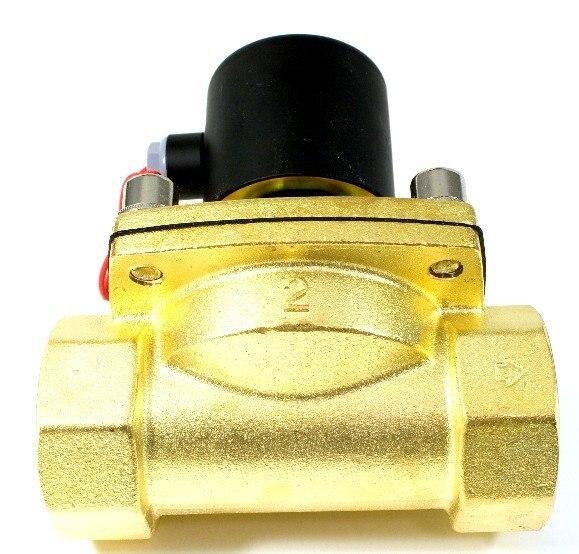 Высокое качество 2 шт. в лоте 2 ''NC Латунь нефти клапан 2 Позиции воды электромагнитный Управление клапан 2W500-50 AC110V