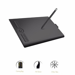 GAOMON M10K 2018 Version 10 x 6.25 Inches Graphic Drawing Pen Tablet with 8192 Level Pressure Passive Stylus