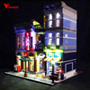Led Light For Lego 10246 Building Blocks Creator City Street Detective's Office Compatible 15011 (only light with Battery box)