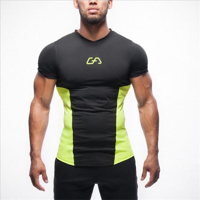 2018 Salles de Sport marque vêtements hommes sportive t-shirt mode t-shirt  homme 8127fc7f7d7
