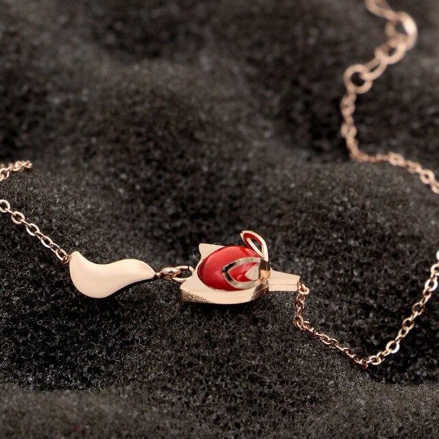 Купить модные украшения браслет red firefox розовое золото индивидуальные