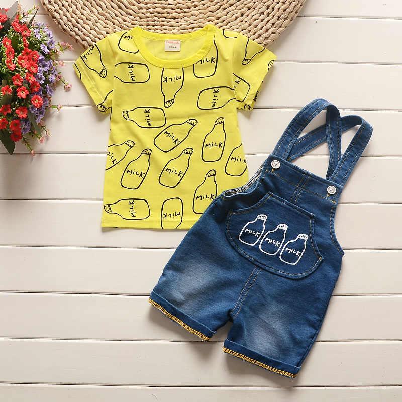 BibiCola letnie zestaw ubranek dla chłopca produkty dla dzieci topy + spodenki 2 sztuk dres dla dzieci ubrania dla dzieci chłopcy odzież garnitury