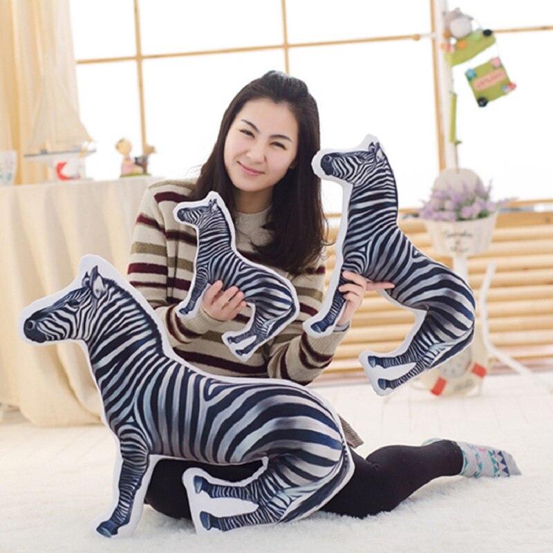 2017 New 3D Vivid Creative Zebra Cushion Home Decor Sofa Office Nap Throw Pillow Car Seat Cushions