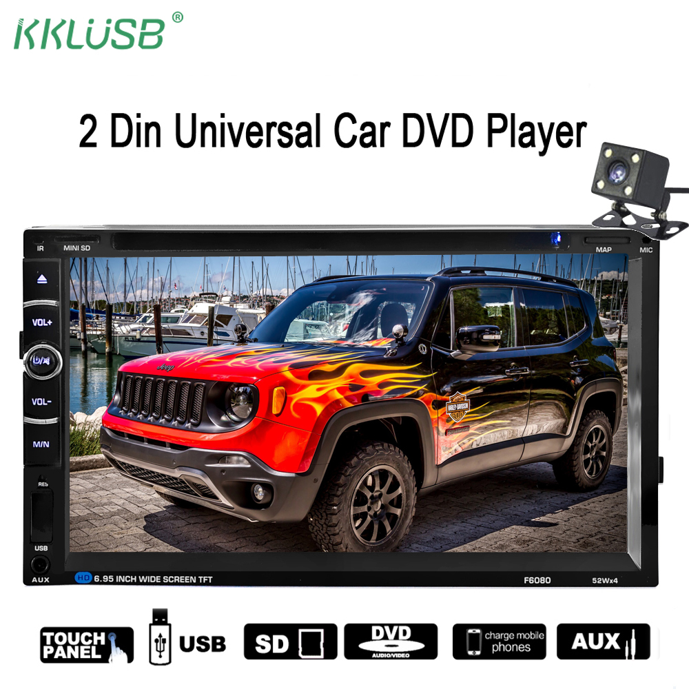 Universal 2 Din Car Radio Player Touch ScreenCar DVD Player  Car Audio MP3 Bluetooth Handsfree Auto Radio Support Steering Wheel 2 din car multimedia video player bluetooth stereo fm radio mp4 mp5 audio steering wheel auto electronics 2din autoradio no dvd