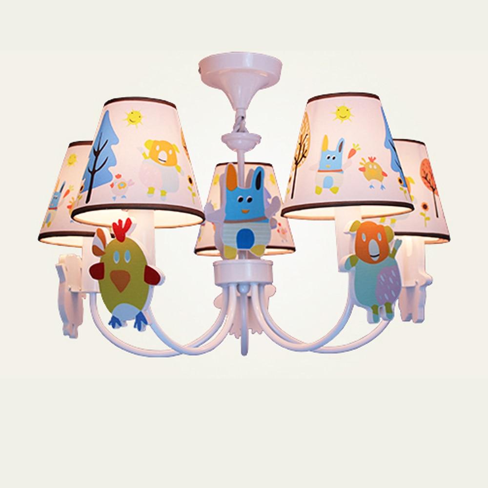 Kids Room Cartoon LED chandeliers for the bedroom 110V-220V E14 new modern chandelier Lamp Led home lighting