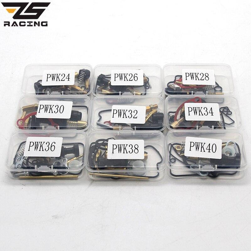 ZS Racing 24 26 28 30 32 34 36 38 40mm PWK KEIHIN Koso Moto Carburateur Kit De Réparation De Rechange Jets 1 ensembles Un Paquet
