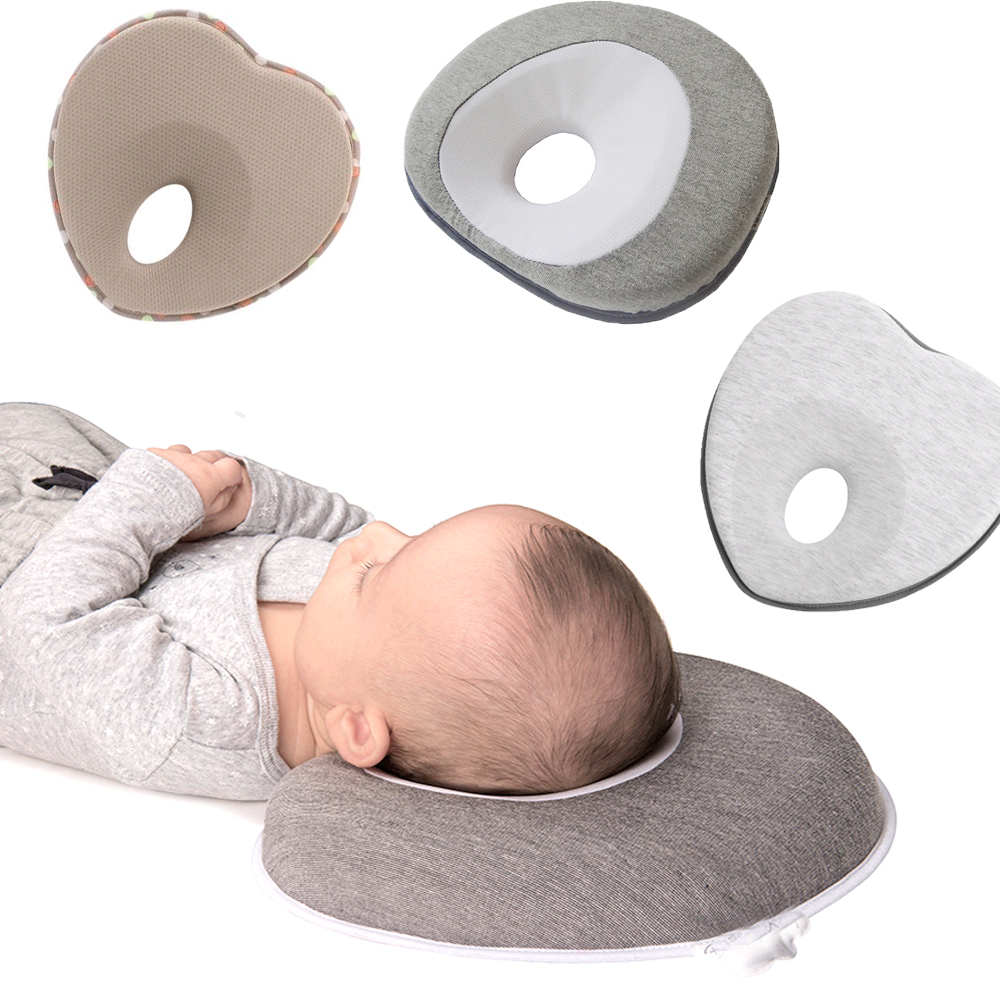 Head Shaping Anti Roll Baby Pillow Cushion And Memory Foam Pillow To Prevent Flat Head