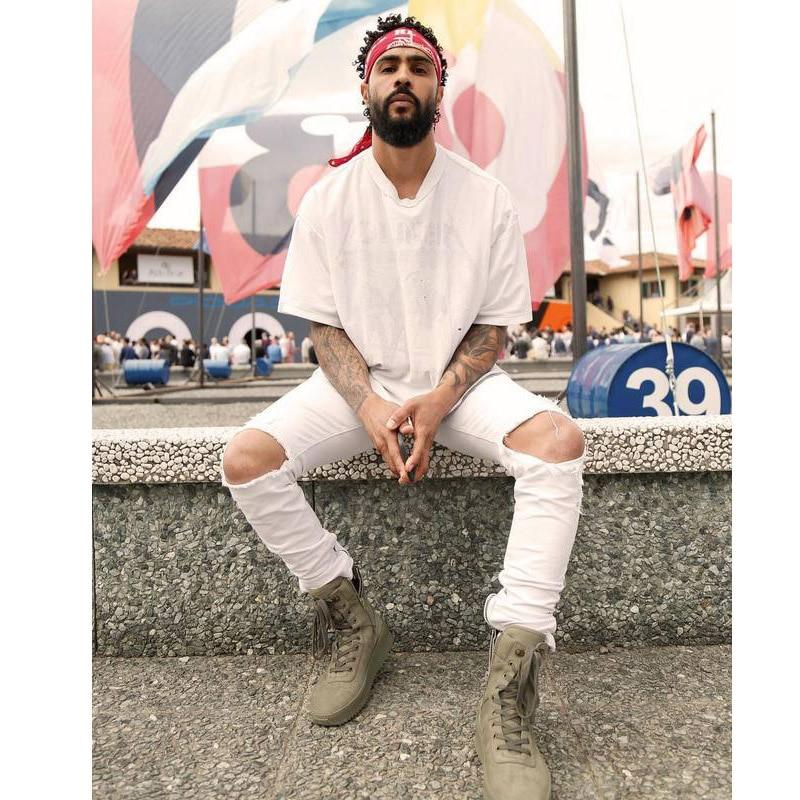 High Street Handsome Distress Destroy Wash Slim Ripped Fear Of God Jeans Homme Brand Clothing Biker