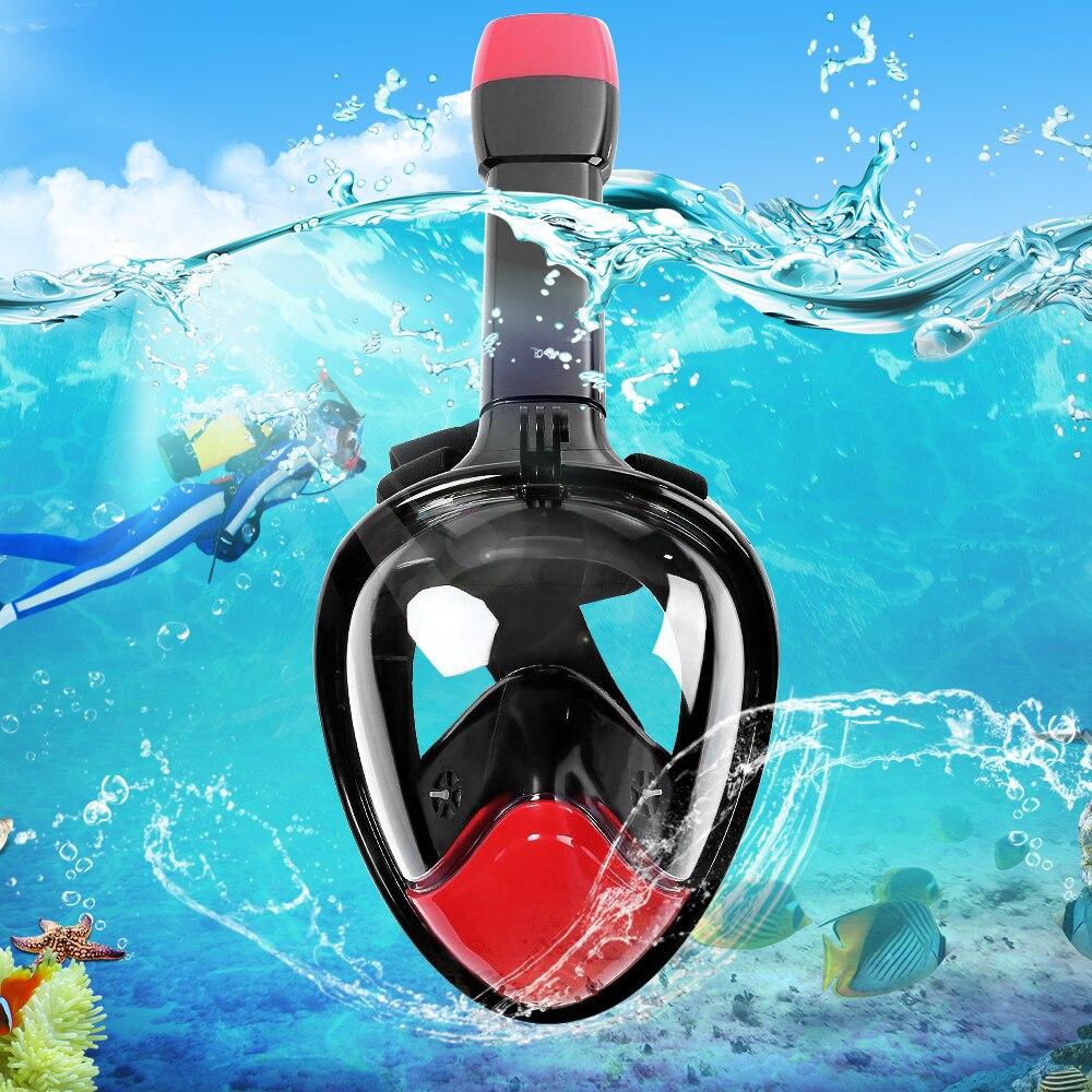 Neopine Underwater Diving Mask Snorkel Set Diving Swimming Gopro Camera Anti Fog Dry Snorkeling Full Face Mask Set Adult