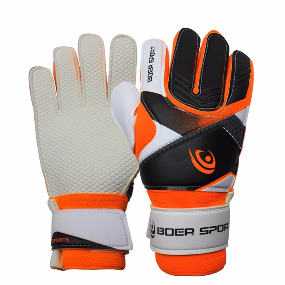 Professional Teenagers' Gloves Finger Protection Thickened Rubber Soccer Football Goalie Gloves Goal Keeper Gloves