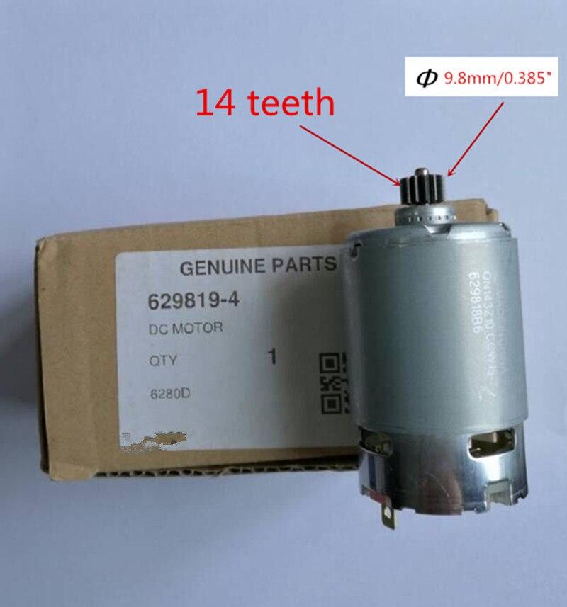 14 Teeth Motor Genuine Parts 629819-4 DC 14.4V For MAKITA 6280DWPE3 6280D 6280DWE 6281DWE BDF343 6281DWPE MT070 6281D Drill электроотвёртка makita ddf343rfe 14 4v 3 0ah