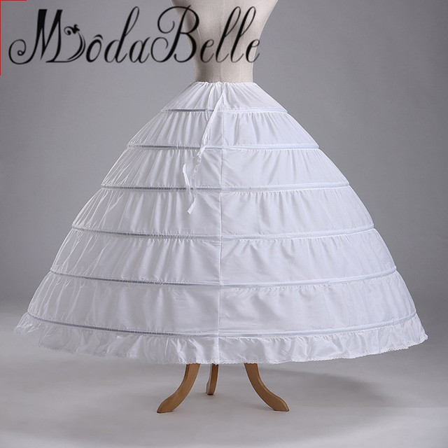 48cf16048aa2 Vintage Hot Sale 6 Hoop Ball Gown Crinoline Petticoats For Wedding Dress  Bridal Hoepel Onderrok Black