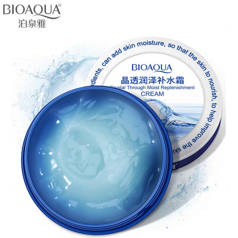 Bioaqua Krim Wajah Crystal Cream Pelembab Wajah Whitening Hyaluronic Acid Perawatan Kulit Lifting Firming Anti Kerut Day Cream