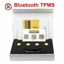 Bluetooth 4.0 TPMS עבור אנדרואיד/IOS זמן אמת צמיגי מעורר צג מערכת 4 חיישנים חיצוניים אוניברסלי עבור מכוניות