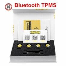 Bluetooth 4,0 TPMS für Android/IOS echtzeit Reifendruck Alarm Monitor System 4 externe sensoren Universal Für Autos