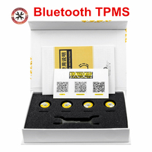 Bluetooth 4.0 TPMS for Android/IOS Real time Tire Pressure Alarm Monitor System 4 external sensors Universal For Cars