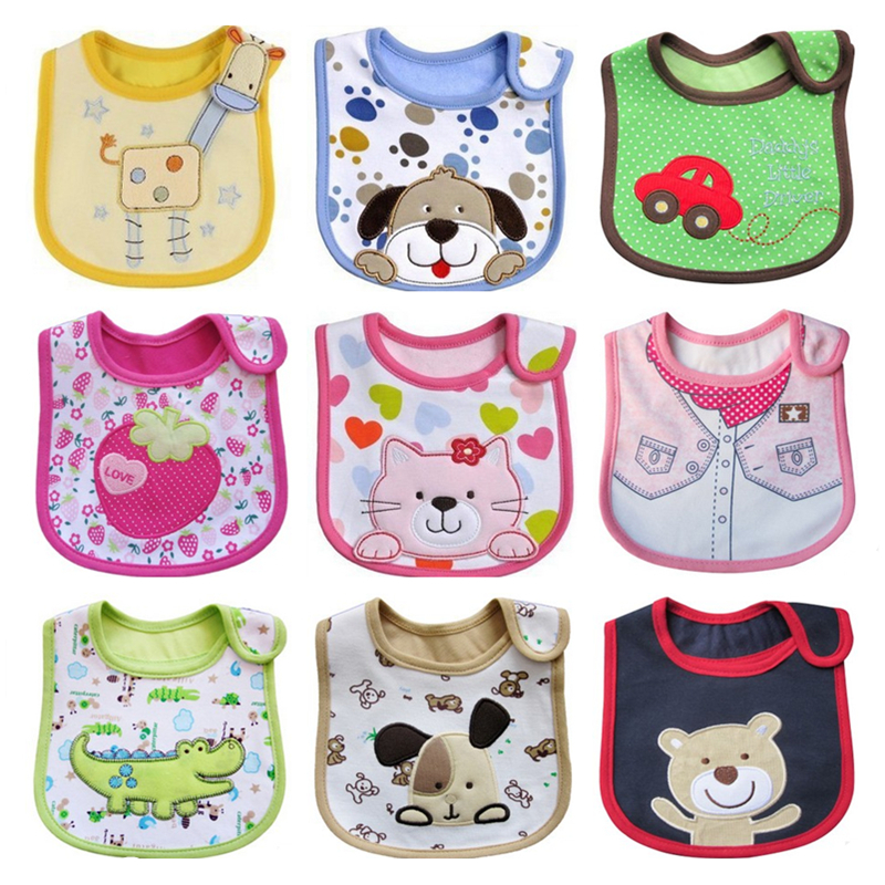 1PCS Newborn Baby Bibs Waterproof  Bib Bandana Baberos Bibs For Kids  Girls Boys Bib Baby Clothing(China)