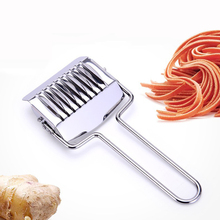 OLOEY Kitchen Noodles Maker Handle Stainless Steel Noodle Cutter Spaghett Lattice Roller DIY Dough Cutting Tools Kitchenware