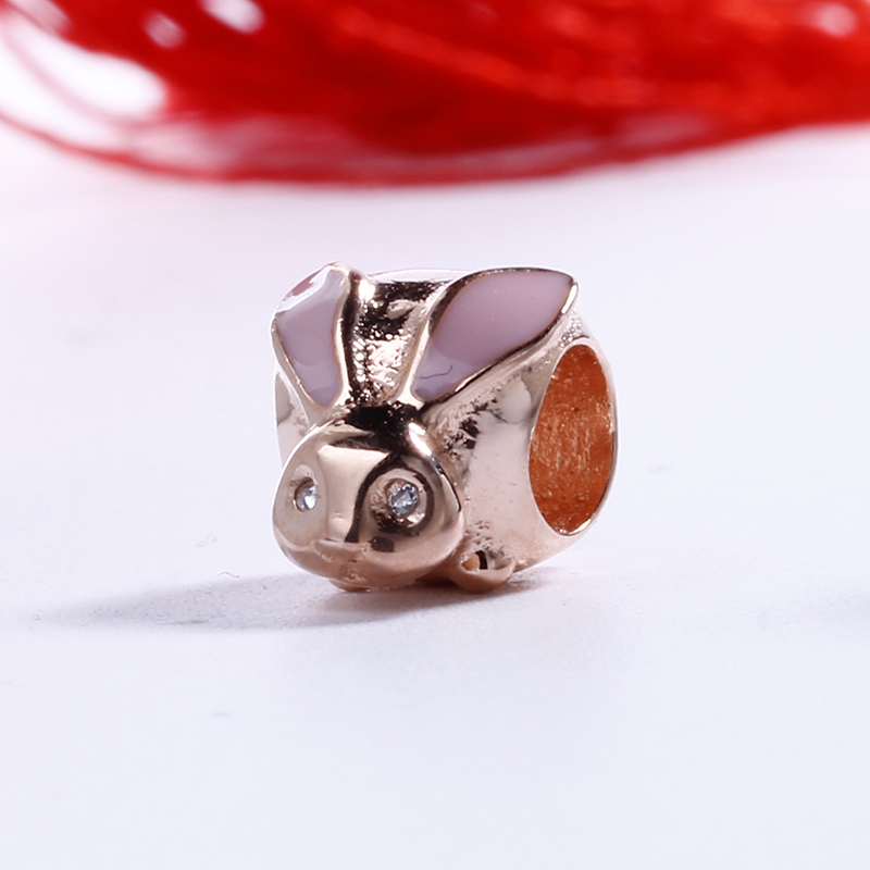 High Quality 100% 925 Sterling Silver Charms Fit Original Pandora Bracelet Cute Rabbit Charms Beads for Jewelry Making Gift