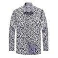 Мужская рубашка с теплой зимой плюшевые бархатные толстые С Длинными Рукавами Рубашка Мужская досуг Корейской печати